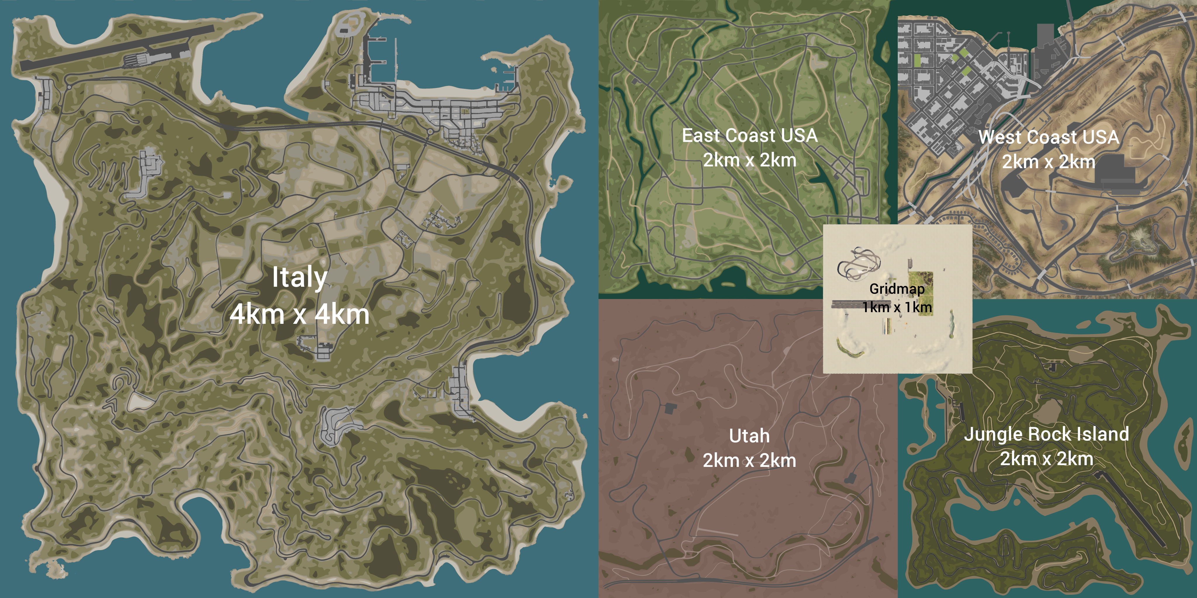 Image of: The Size Difference Between The New Italy Map And The Rest Beamng